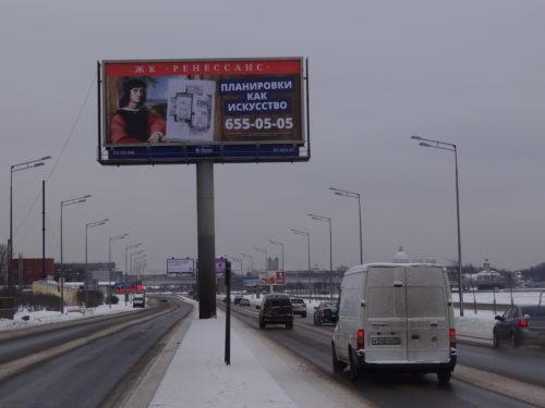 Суперсайт 5х12 Малоохтинский наб Республиканская ул к мосту А. Невского