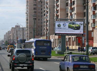 Щит Просвещения пр. у д. 66/Светлановский пр.