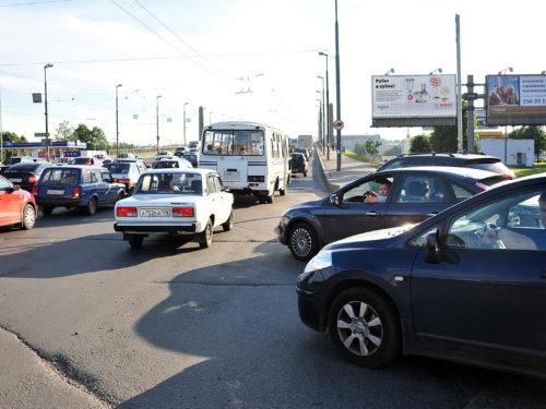 Щит Народная ул./Володарский мост (въезд), правый